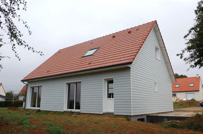 Maison ossature bois terminée