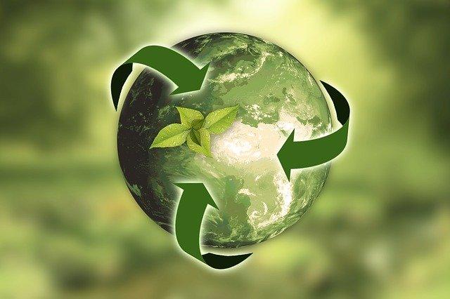 Illustration de la terre avec une qui représente développement durable